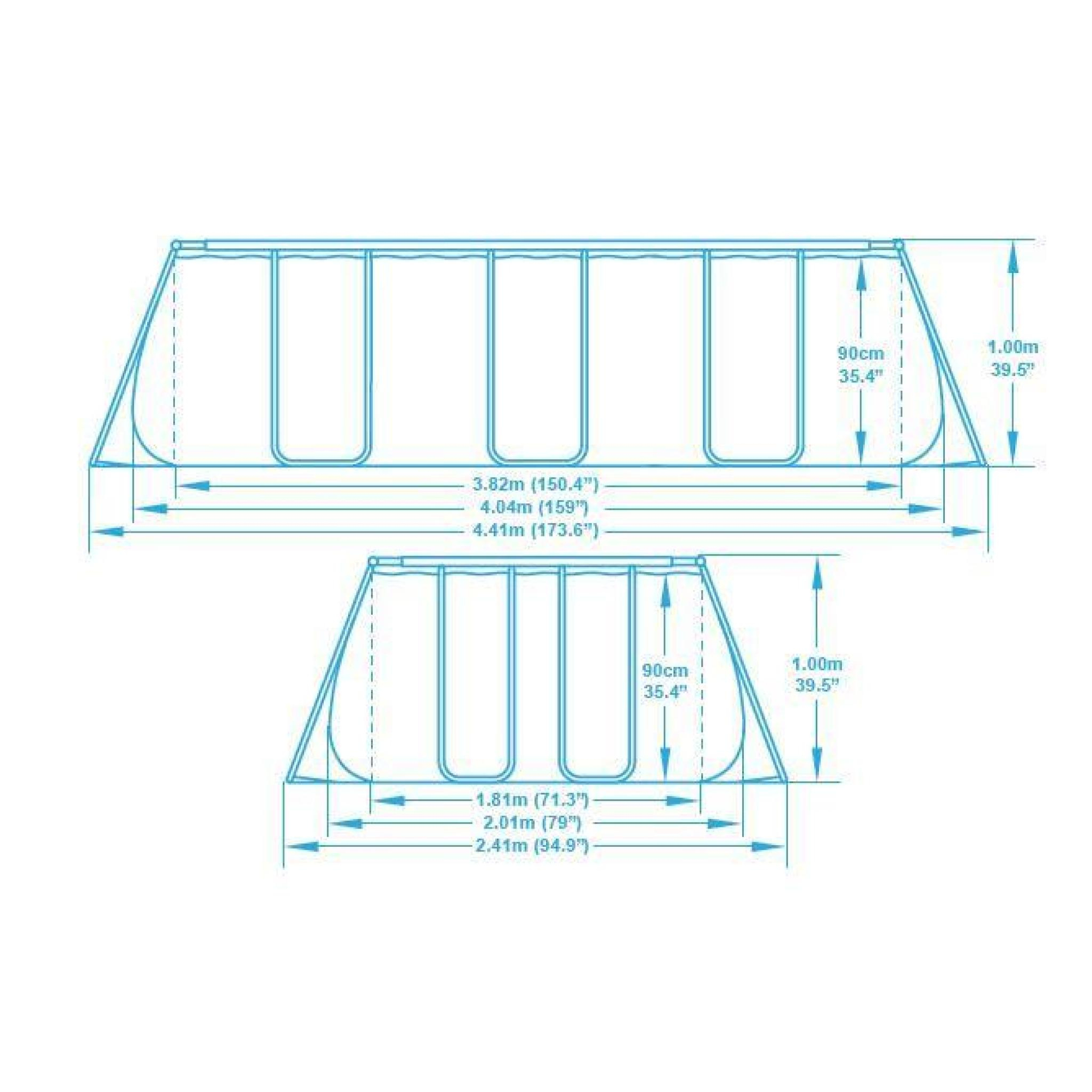Piscine Tubulaire Rectangulaire Bestway 4.04X2.01X1.00 Filtre À Sable destiné Piscine Tubulaire Rectangulaire Bestway