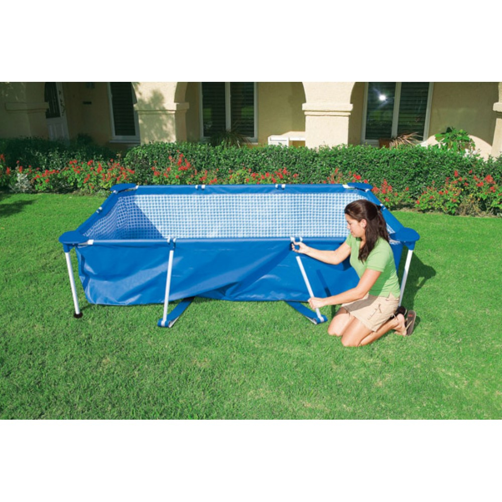 Piscine Tubulaire Rectangulaire Intex 3,8M tout Piscines Tubulaires