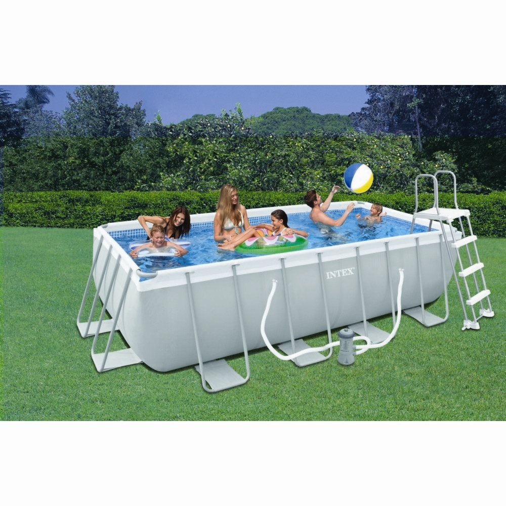 Piscine Tubulaire Rectangulaire Intex 4X2X1M destiné Piscine Tubulaire Carrée