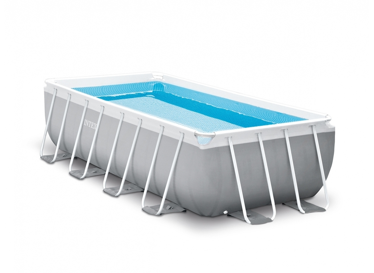 Piscine Tubulaire Rectangulaire Intex Prism Frame 4 X 2 X 1 M destiné Piscine Tubulaire Carrée