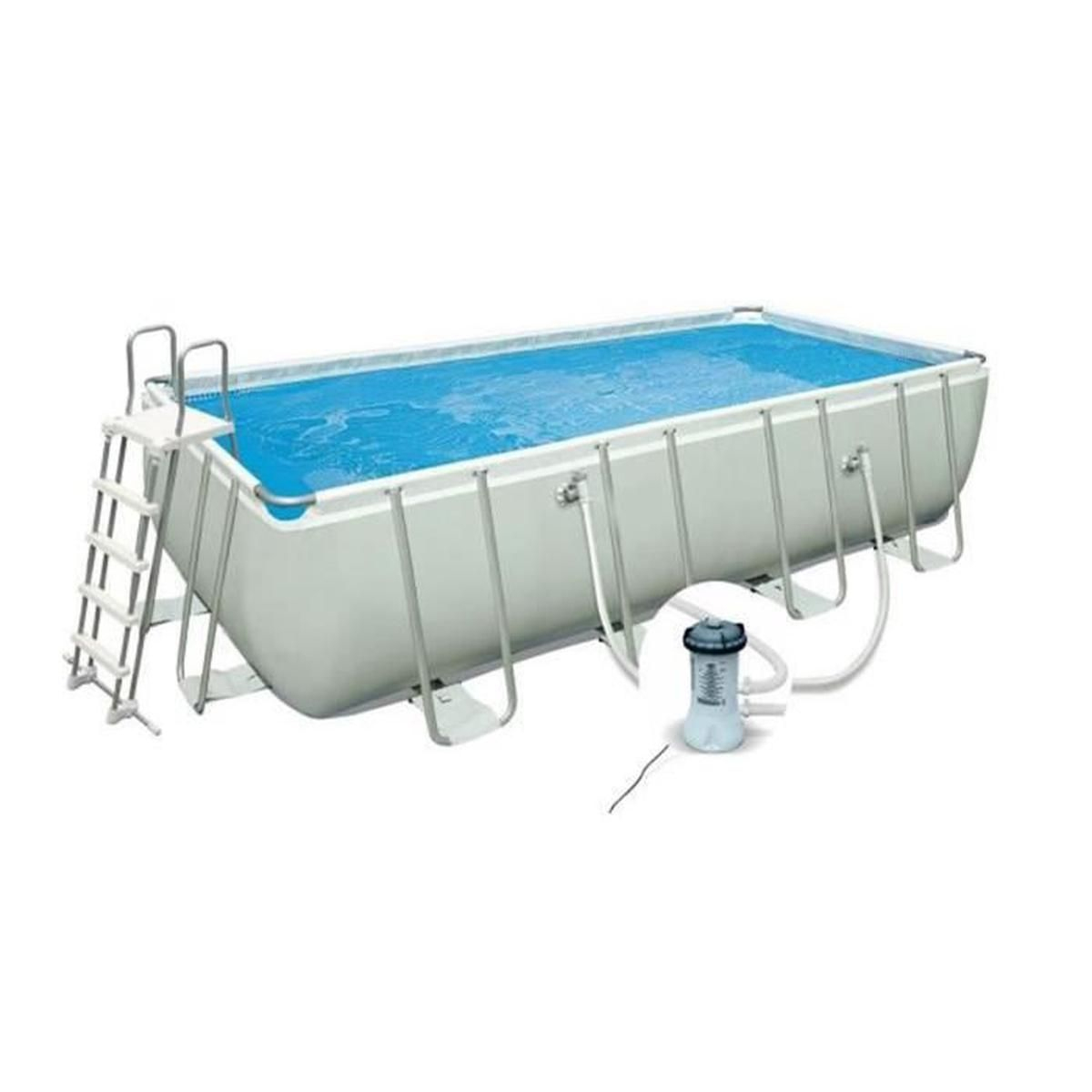 Piscine Tubulaire Rectangulaire Ultra Frame Dim : L400 X ... intérieur Piscine Tubulaire Rectangulaire Bestway