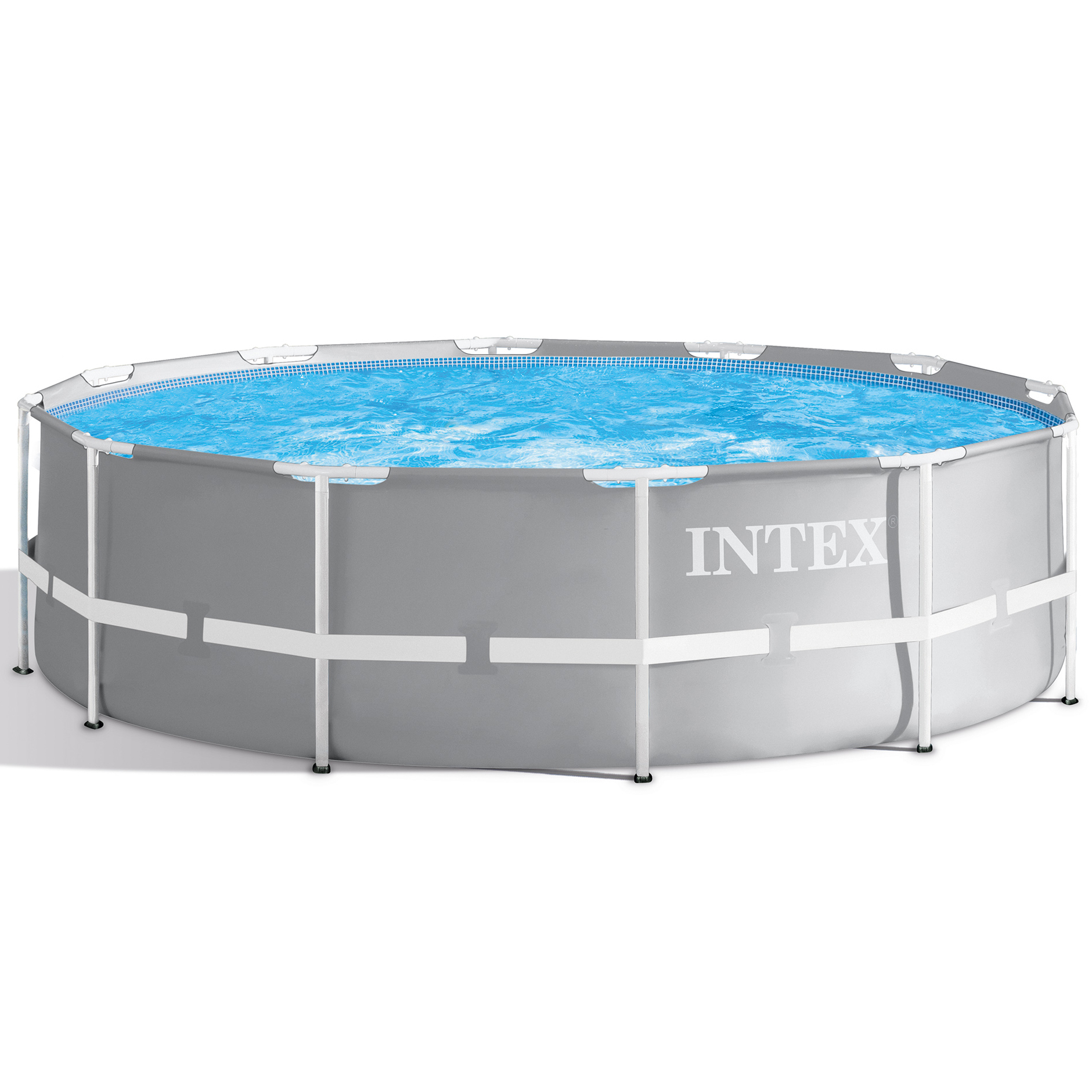 Piscine Tubulaire Ronde Intex (Ø3,66X1,22M) dedans Bache Piscine Intex 3.66