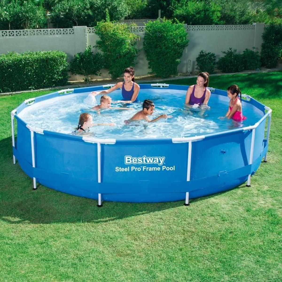 Piscine Tubulaire Ronde Pvc D.3.66M Steel Frame Pools ... destiné Cdiscount Piscine Tubulaire