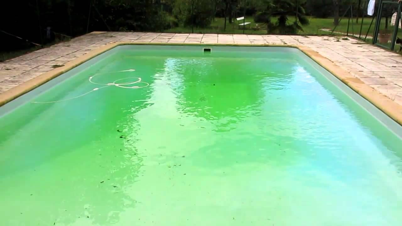 Piscine Verte Après Des Orages .... Limpide En 2 Minutes pour Sulfate De Cuivre Piscine