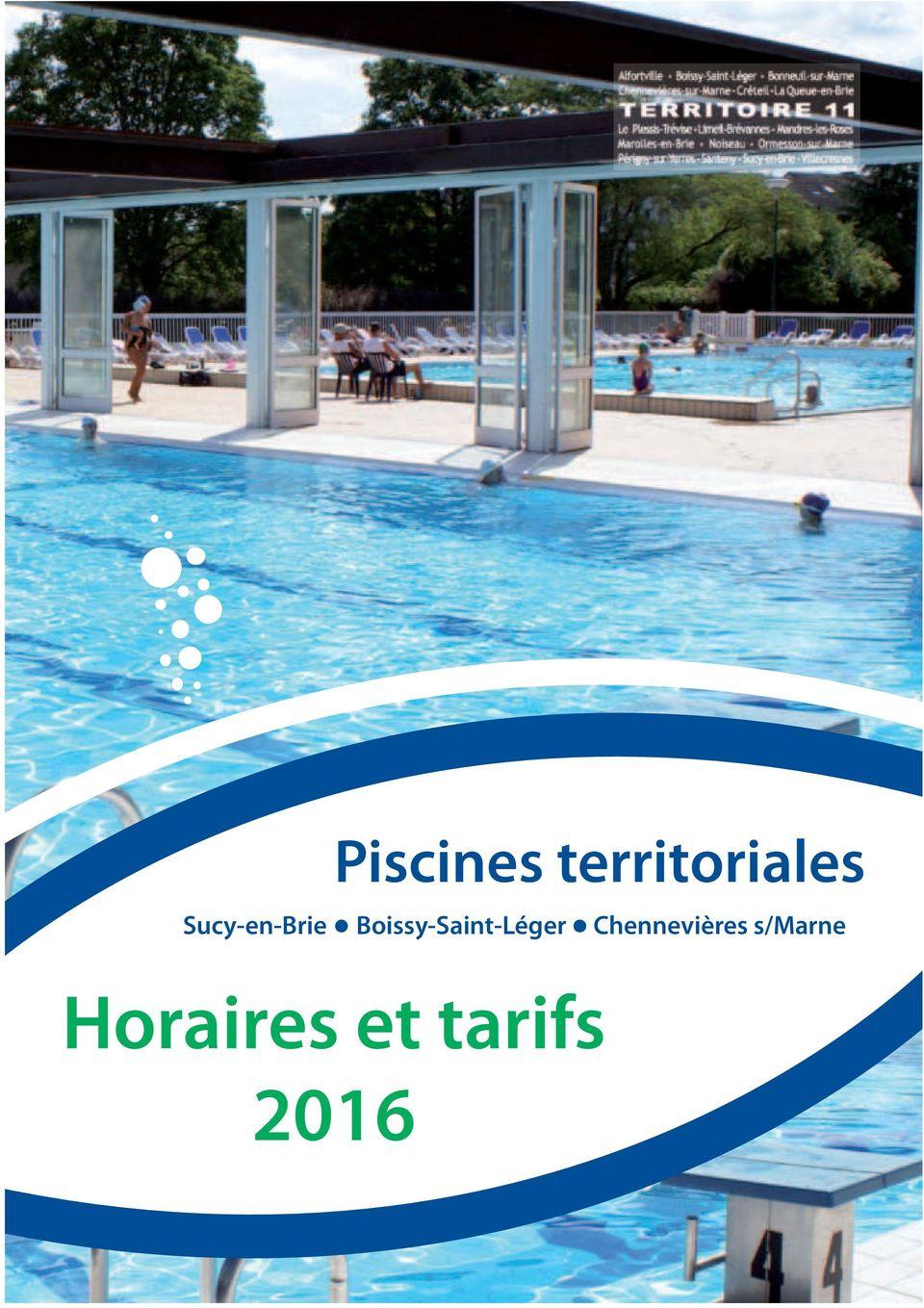 Piscines Territoriales. Sucy-En-Brie Boissy-Saint-Léger ... tout Piscine De Sucy En Brie