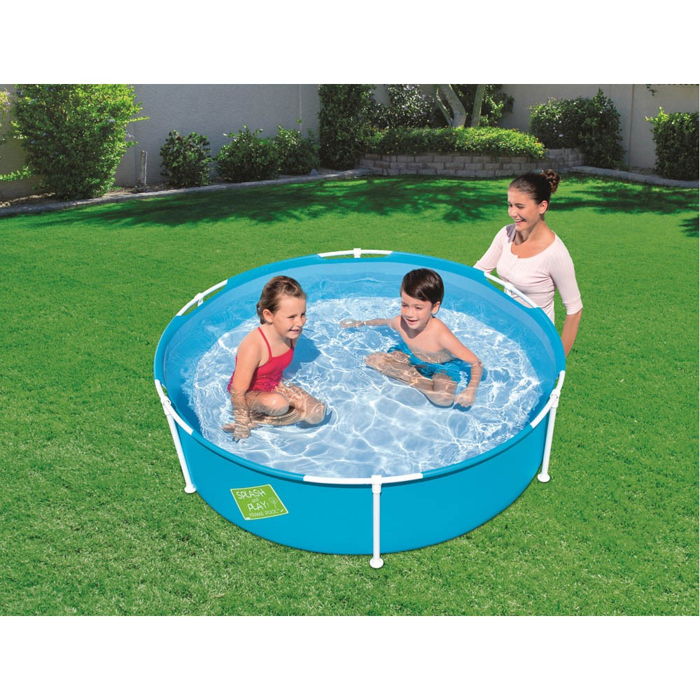 Piscinette Tubulaire Ronde Bleue My First Frame Pool Bestway à Gifi Piscine Gonflable