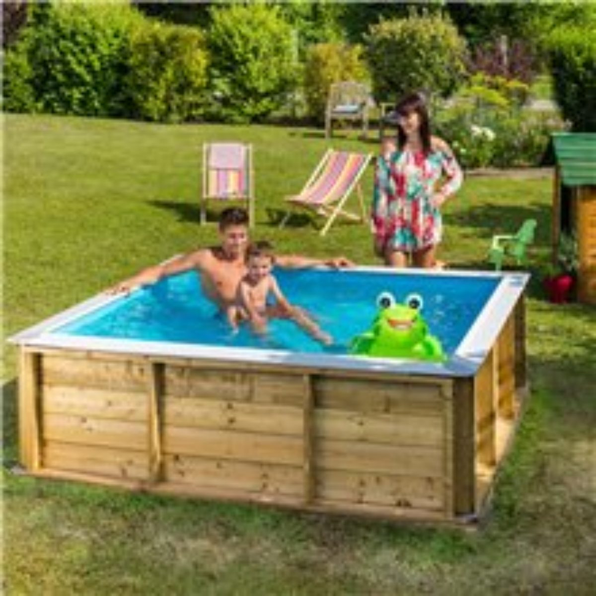 Pistoche 2M X 2M Wooden Pool With Built In Safety Cover And Filter dedans Piscine Pistoche