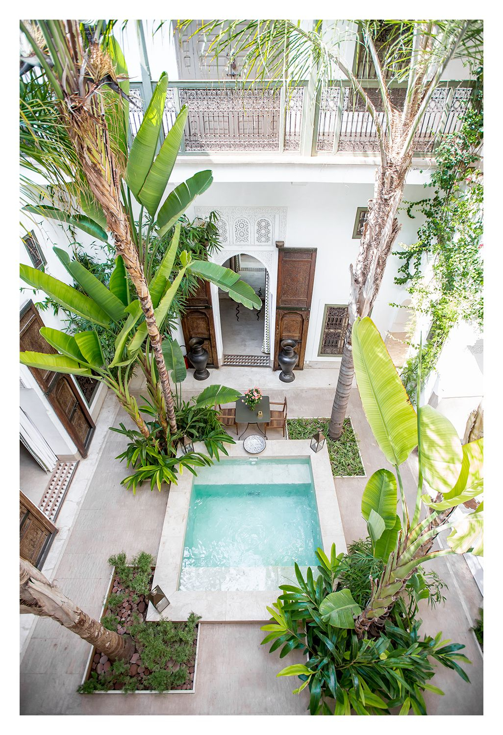 Places & Spaces   Piscine Et Jardin, Maison Avec Patio Et ... serapportantà Riad Marrakech Avec Piscine