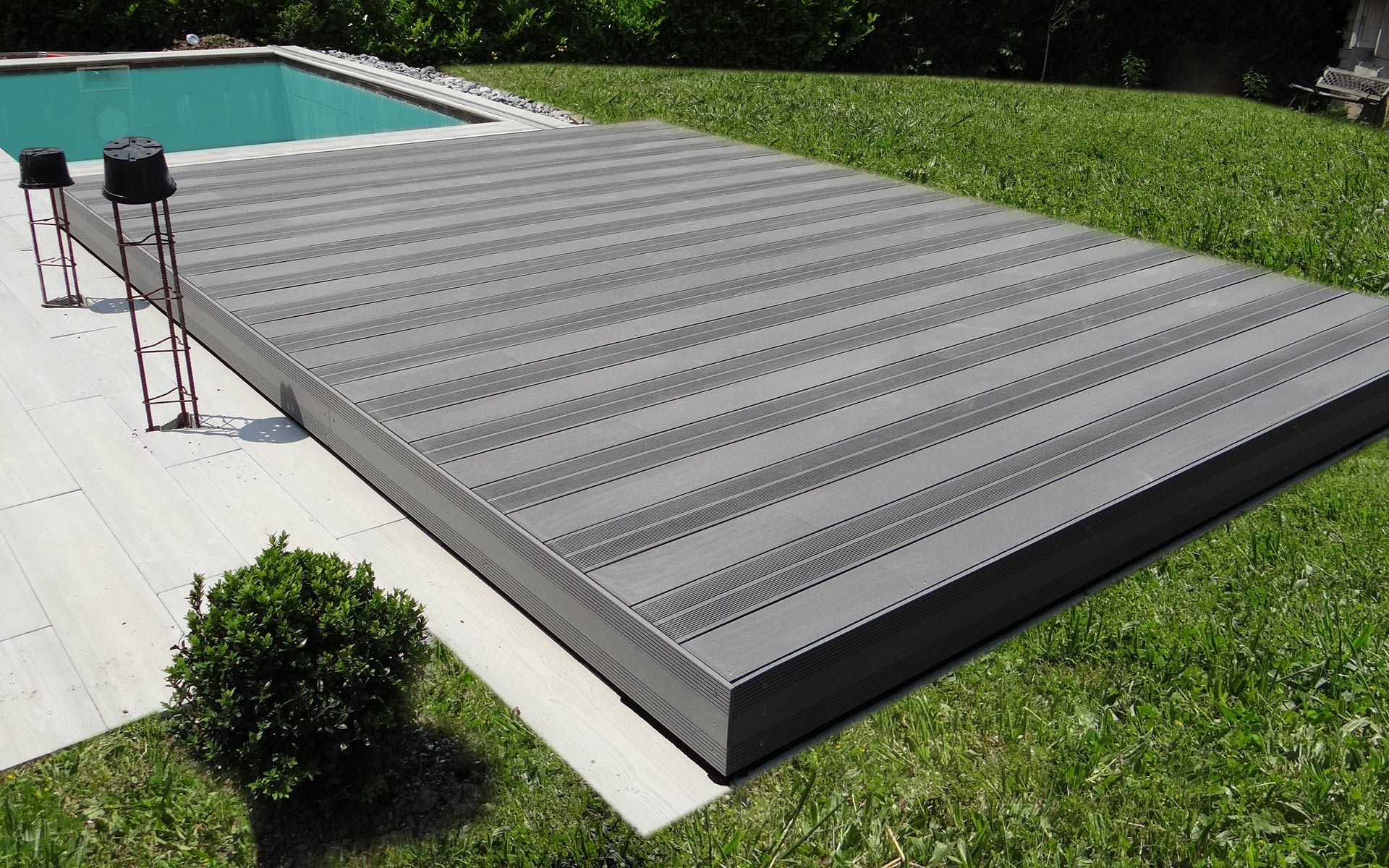Plancher #coulissant #terrasse #mobile #piscine Plancher ... destiné Fabriquer Une Terrasse Mobile Pour Piscine