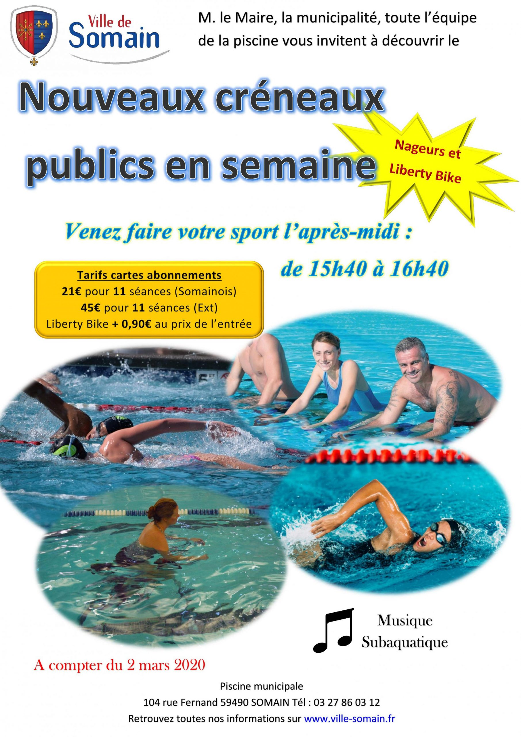 Planning À Partir Du 2 Mars - Ville De Somain destiné Piscine Somain