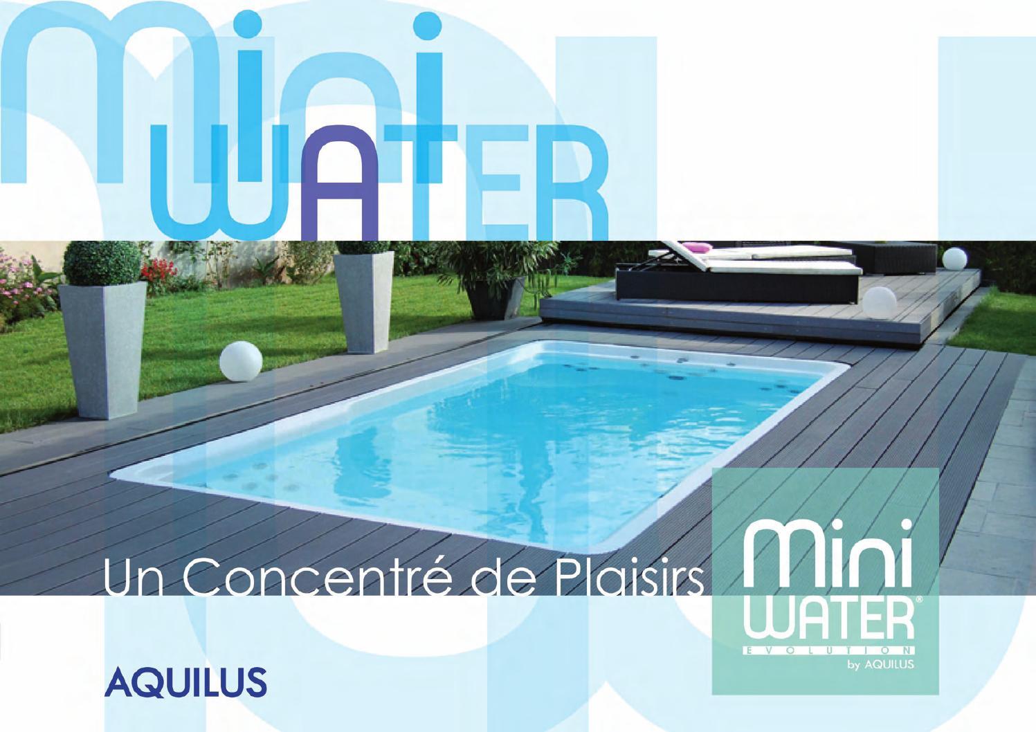 Plaquette Mini Water Évolution By Aquilus Piscines Et Spas ... destiné Piscine Aquilus