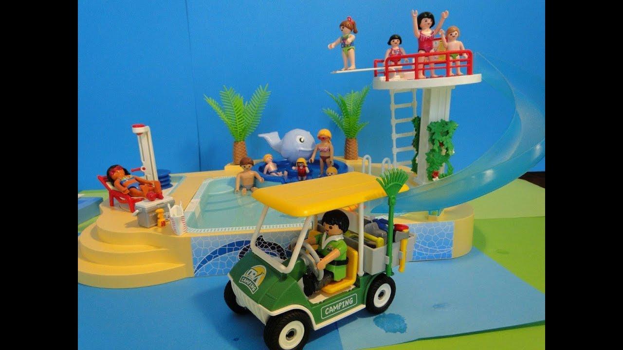 Playmobil 2014 Summer Fun Piscine 5433 Pool Camping à Camping Car De Luxe Avec Piscine