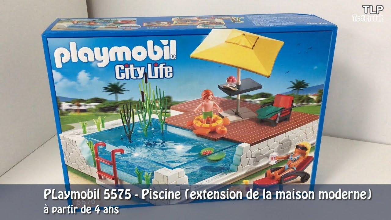 Playmobil 5575 - La Piscine (Extension De La Maison Moderne) avec Piscine Playmobil 5575