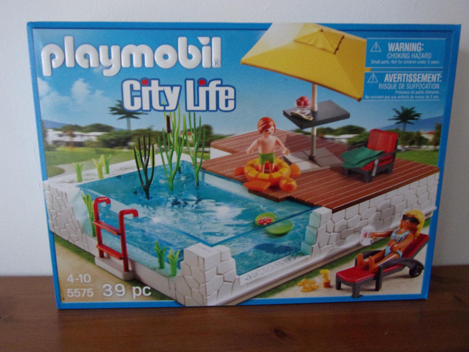 Playmobil City Life 5575 La Piscine D'un - Neuf Et Emballage ... pour Piscine Playmobil 5575
