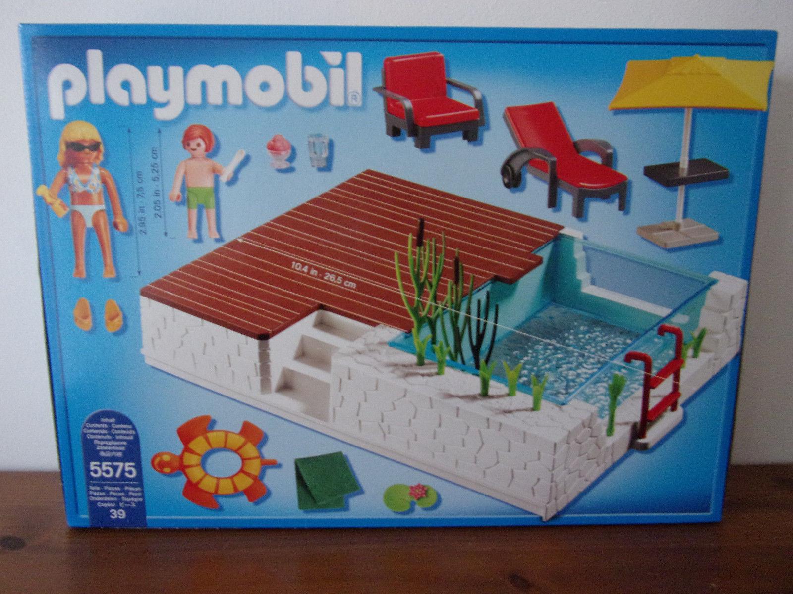Playmobil City Life 5575 La Piscine D'un - Neuf Et Emballage ... tout Piscine Playmobil 5575