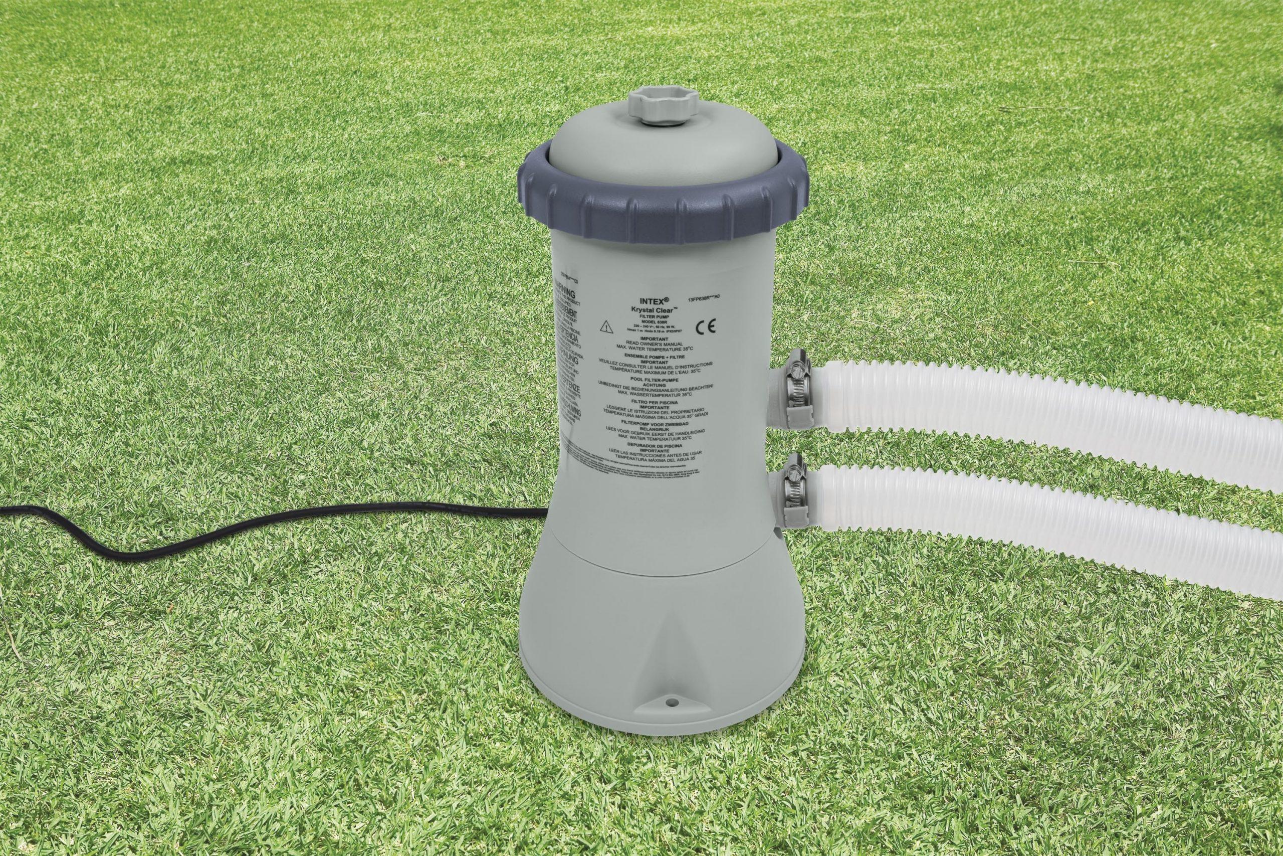 Pompe 3028 L/h Avec Filtre Pour Piscine Intex - Mr.bricolage destiné Pompe Pour Piscine Intex
