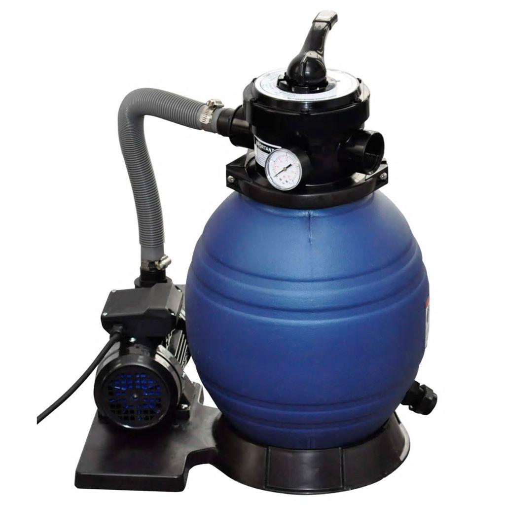 Pompe À Filtre À Sable 400 W 11000 L/h - 90291 tout Filtre A Sable Piscine Mode D Emploi
