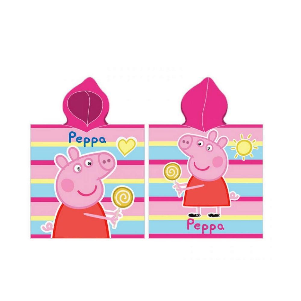 Poncho De Bain Peppa Pig Enfant Piscine - Ponchos De Plage ... tout Peppa Pig À La Piscine