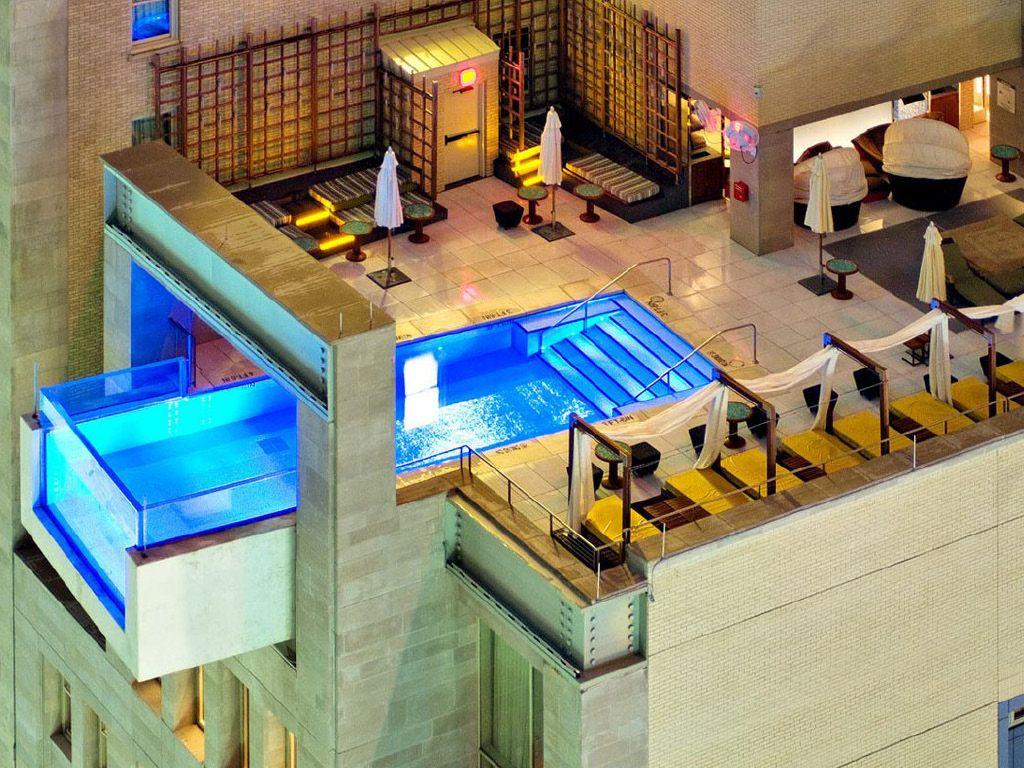 Pool Bar - Hôtel The Joule - Dallas - Usa - Piscine ... avec Piscine Suspendue