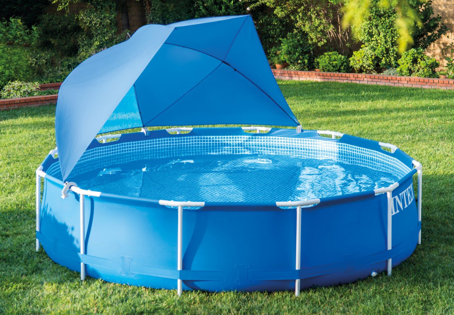 Pool Canopy In 2019 | Pool | Pool Canopy, Pool Landscaping ... serapportantà Piscine Autostable