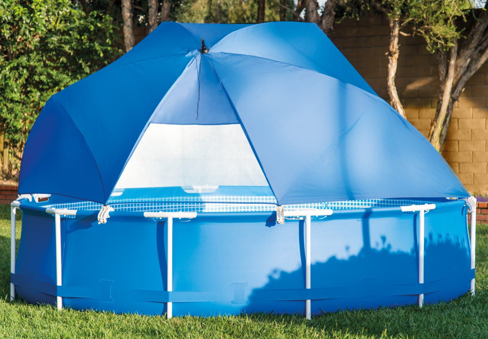 Pool Canopy | Pool Canopy, Pool Skimmer, Swimming Pool Equipment serapportantà Dome Piscine Hors Sol