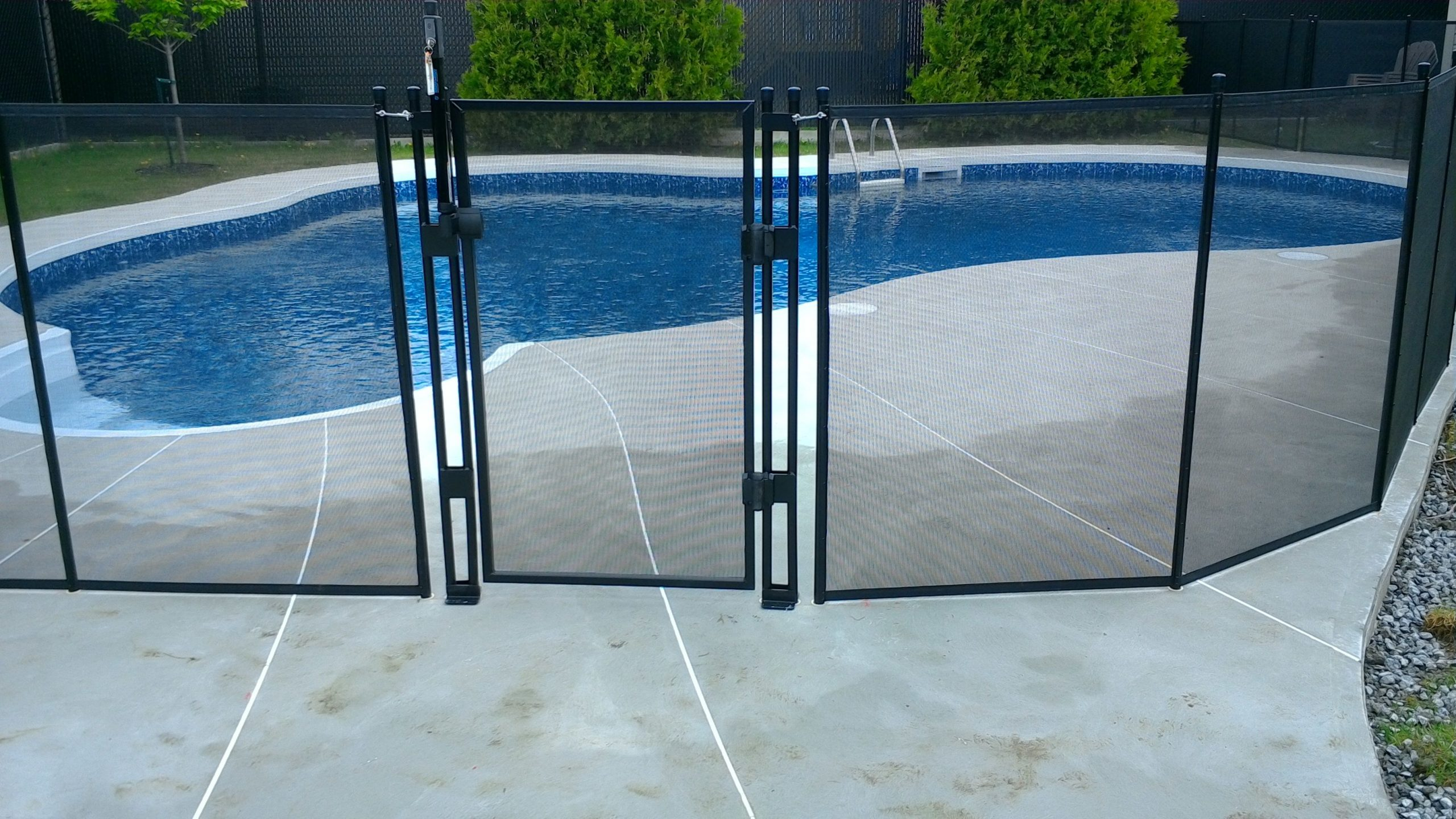 Pool Fence And Gate. Our Pool Fencing System May Also ... encequiconcerne Self Piscine