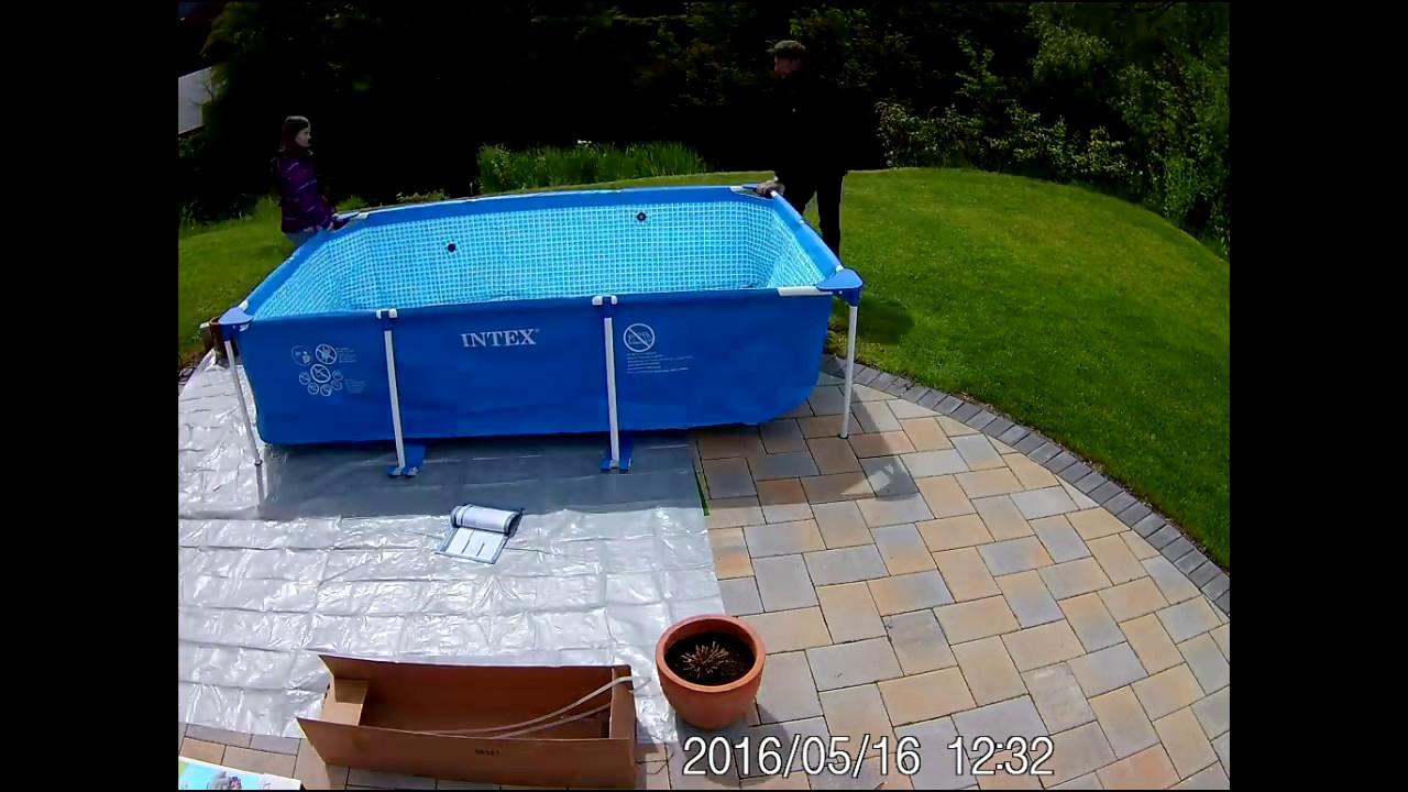 Poolaufbau - Intex Frame Pool tout Piscine 3X2