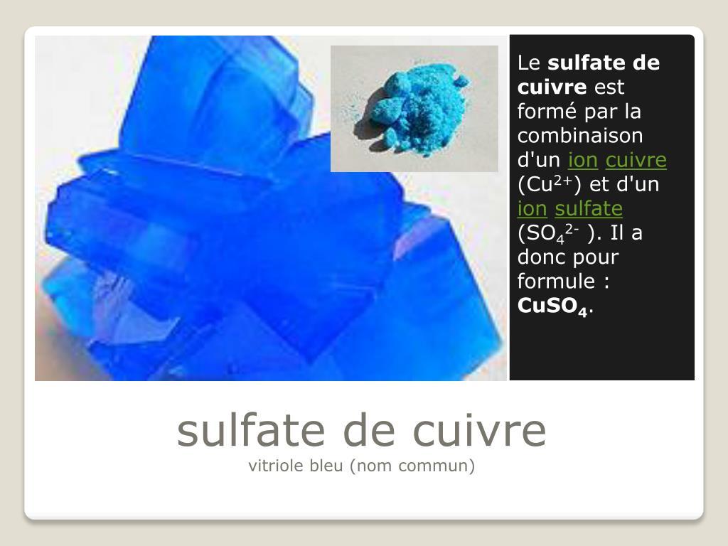 Ppt - Sulfate De Cuivre Powerpoint Presentation, Free ... concernant Sulfate De Cuivre Pour Piscine