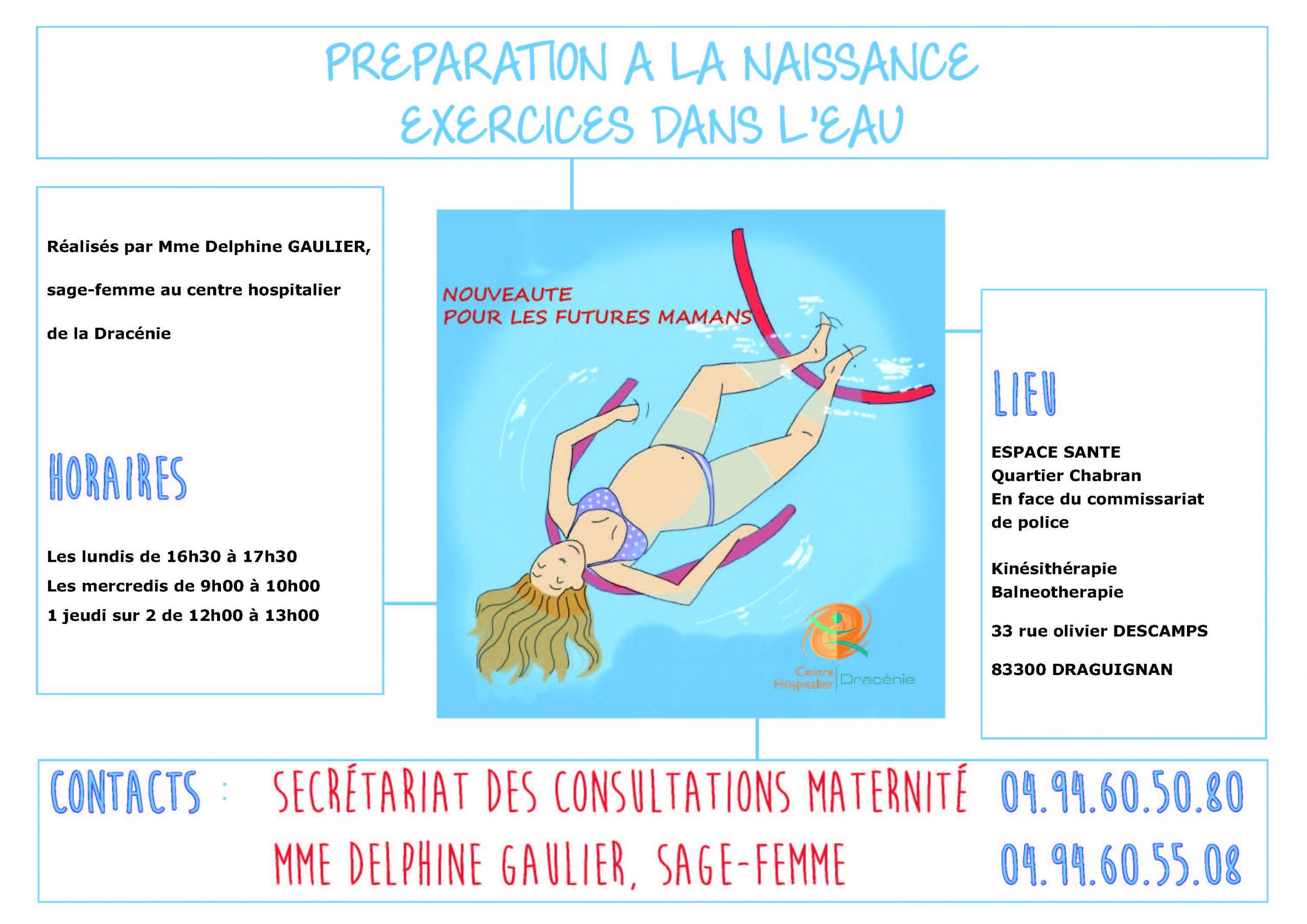Préparation A La Naissance, Exercices Dans L'eau tout Préparation Accouchement Piscine