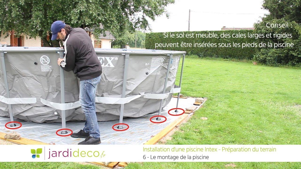 Préparation Du Terrain Pour Pose De Piscine Hors Sol - Conseils & Astuces concernant Que Mettre Sous Une Piscine Hors Sol