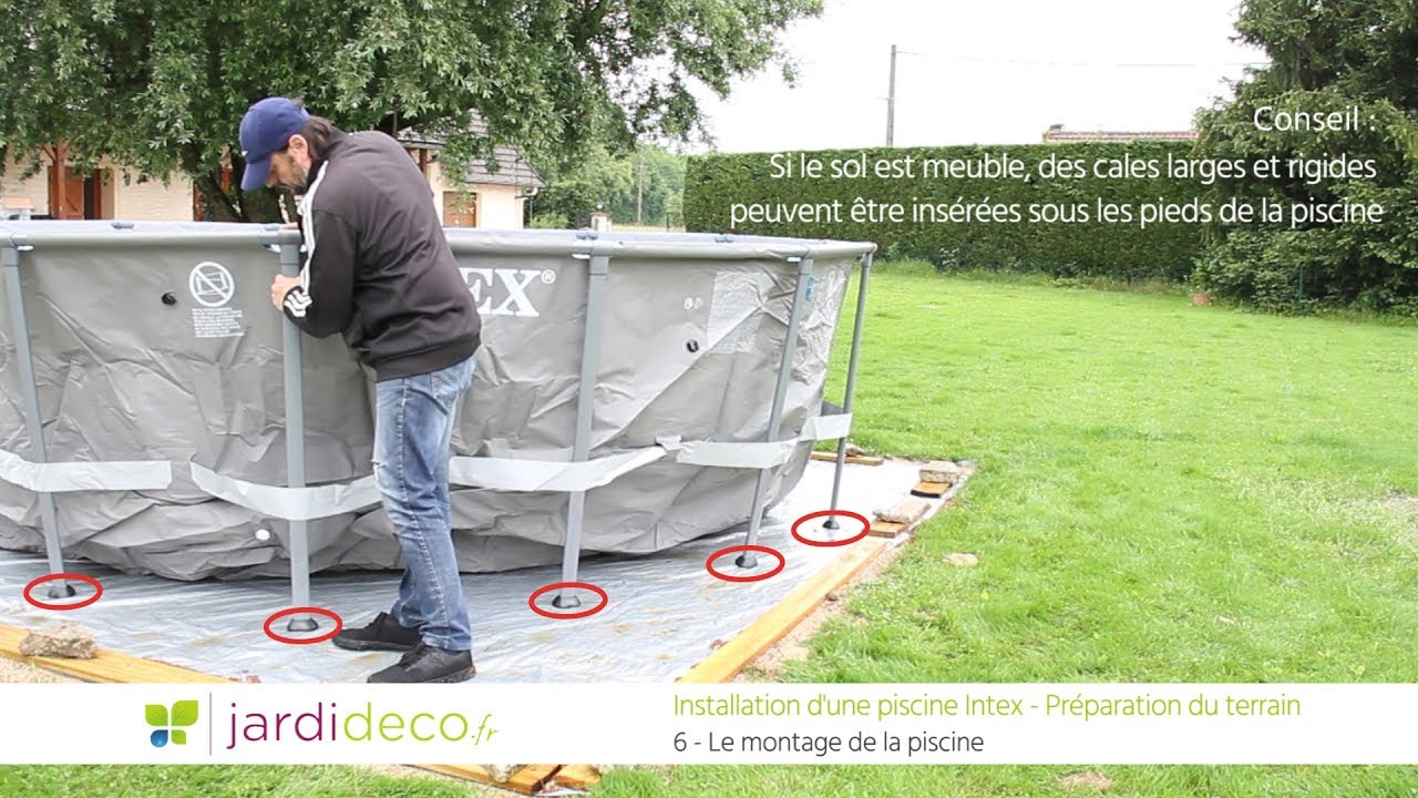 Préparation Du Terrain Pour Pose De Piscine Hors Sol - Conseils & Astuces serapportantà Aménagement Autour D Une Piscine Hors Sol