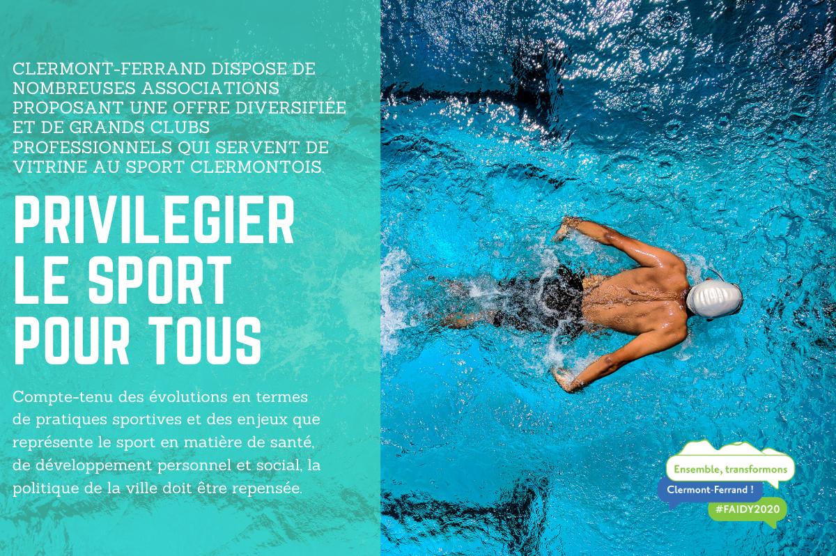 Privilégier Le Sport Pour Tous À Clermont-Ferrand Avec Éric ... dedans Piscine Coubertin Clermont