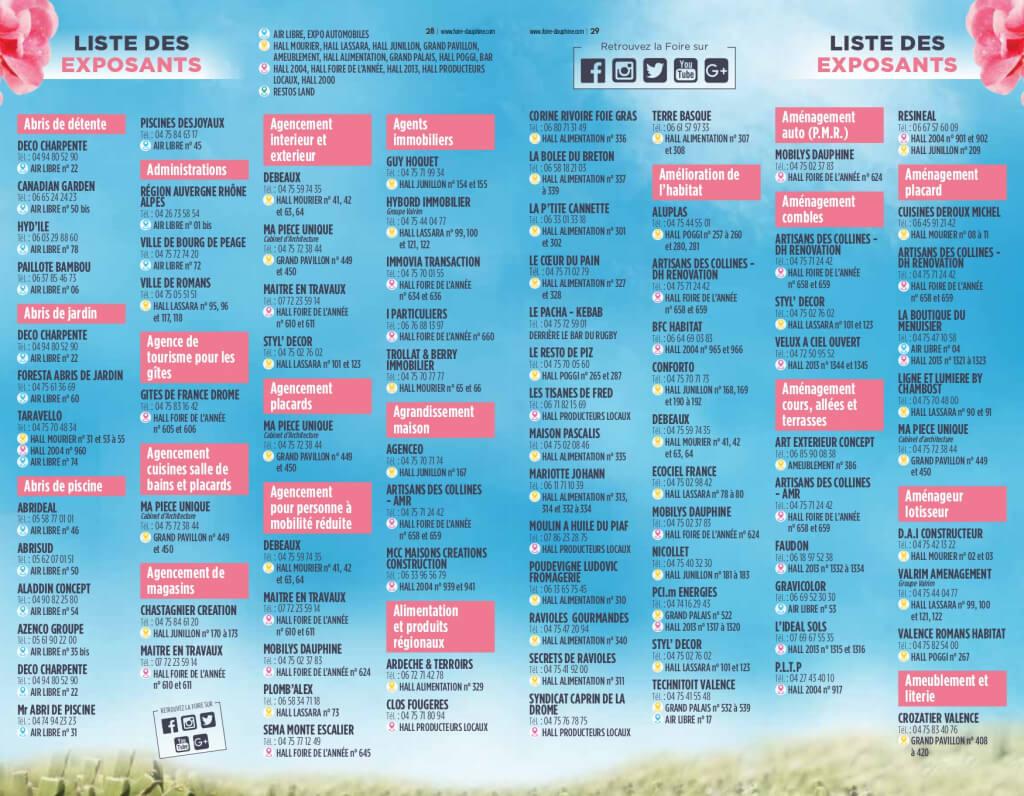 Programme Et Liste Des Exposants 2019 - Foire Du Dauphiné à Cash Piscine Bourg De Peage