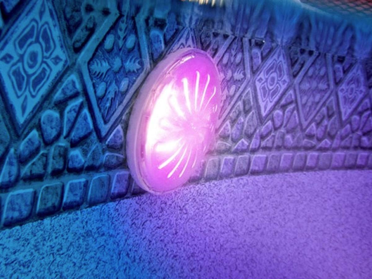 Projecteur Led Couleurs Pour Piscine Acier Hors-Sol concernant Projecteur Led Piscine