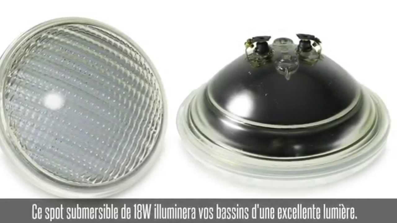 Projecteur Led De Piscine De 18W, 120°, 1100 Lm, Blanc Froid tout Spot Piscine Led