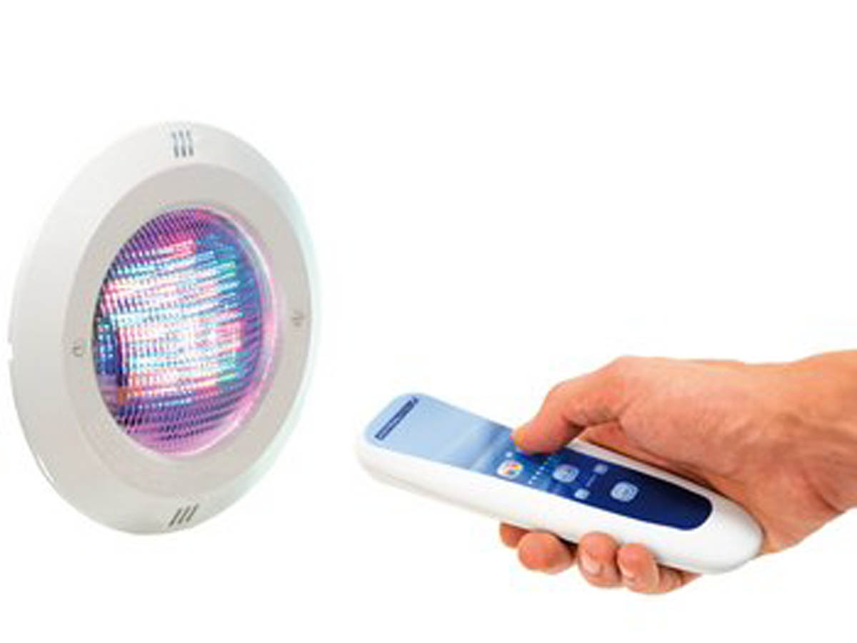 Projecteur Led Multicolore Et Télécommande Pour Piscine ... à Projecteur Led Piscine