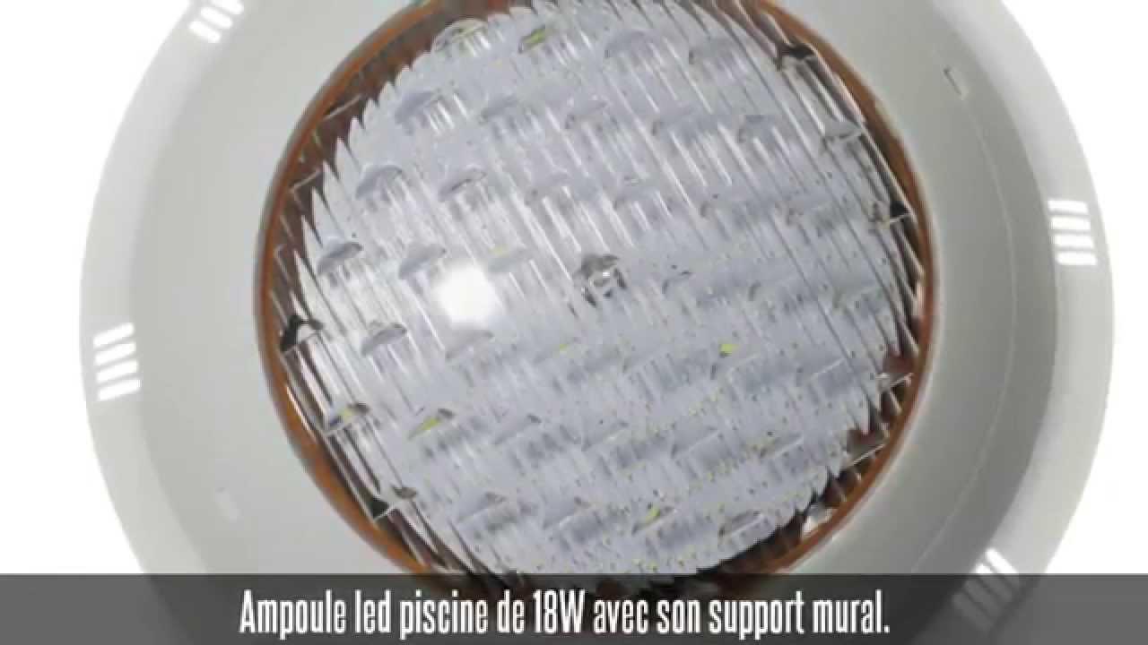 Projecteur Led Piscine Avec Support Mural 18W encequiconcerne Spot Piscine Led