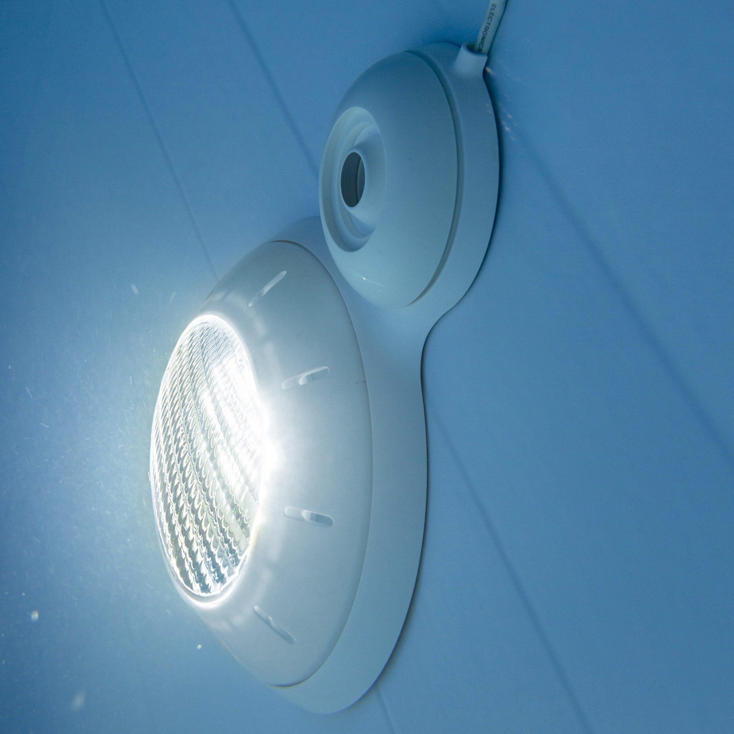 Projecteur Led Pour Piscine Hors-Sol Acier Blanc, 21 W encequiconcerne Projecteur Led Piscine