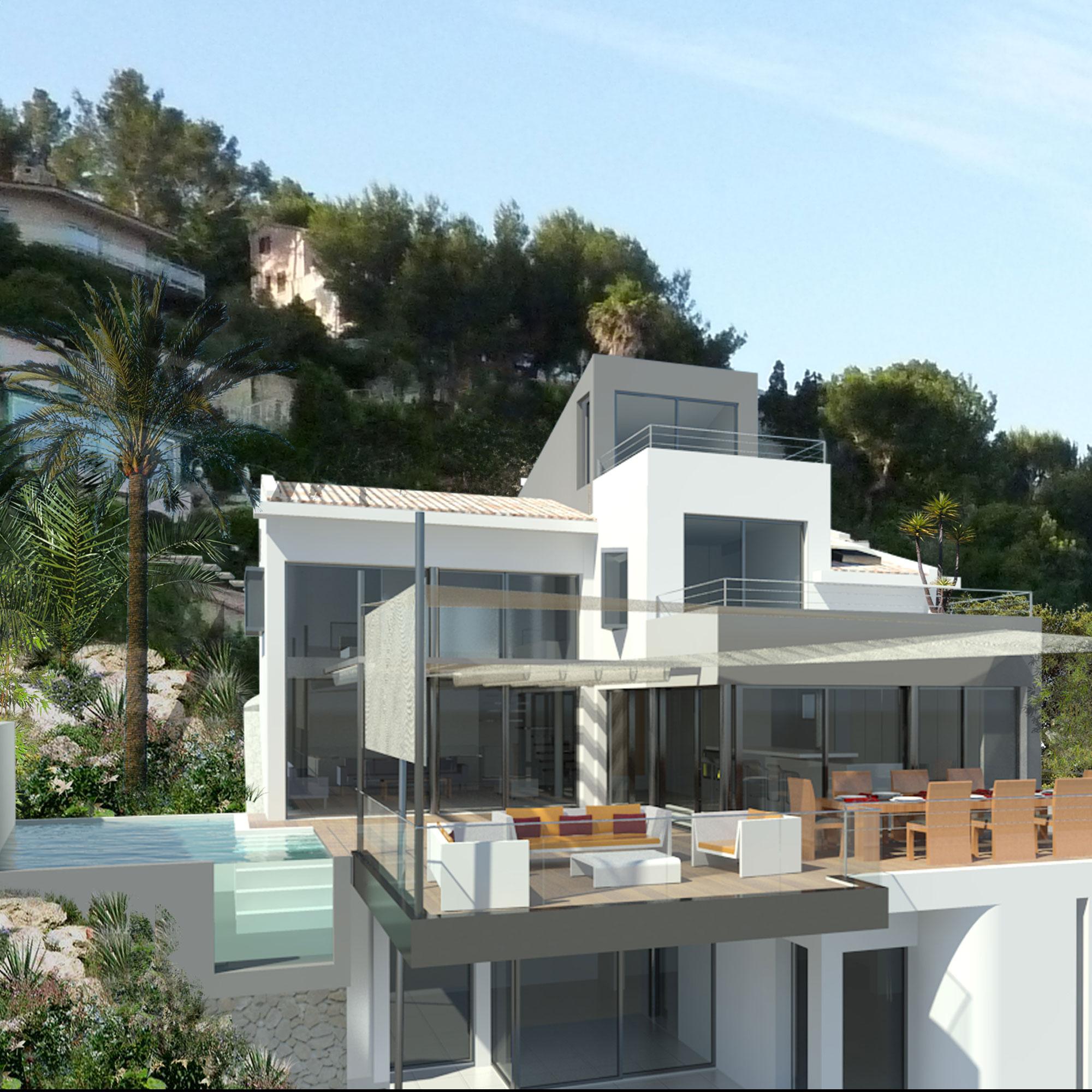 Projet De Réaménagement D'une Maison Avec Piscine Suspendue ... pour Piscine Suspendue