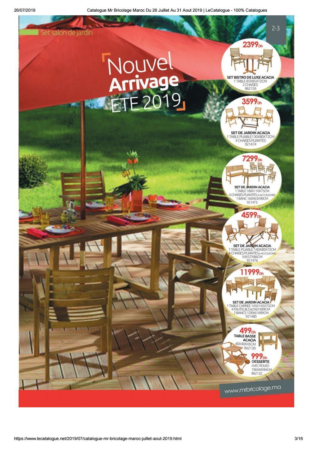 Promotion Set De Jardin Acacia pour Mr Bricolage Piscine