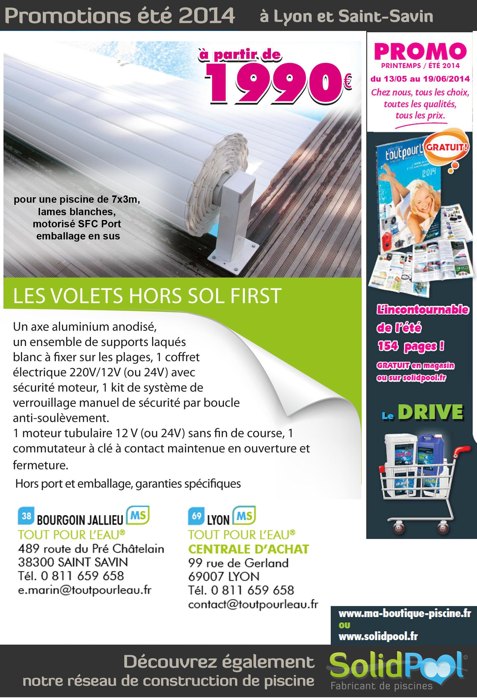 Promotion Sur Les Volets Pour Piscine Hors-Sol First Dans ... concernant Piscine Bourgoin Jallieu