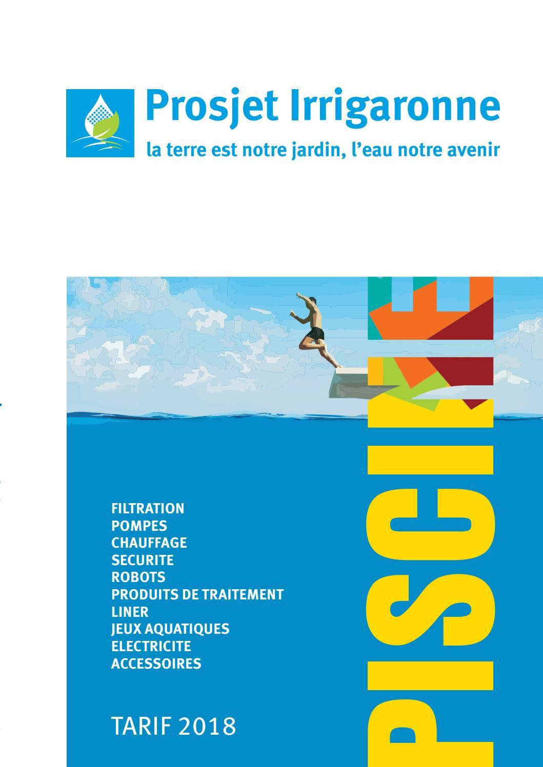 Prosjet Irrigaronne Piscine 2018 By Prosjetirrigaronne - Issuu intérieur Colmateur De Fuite Piscine