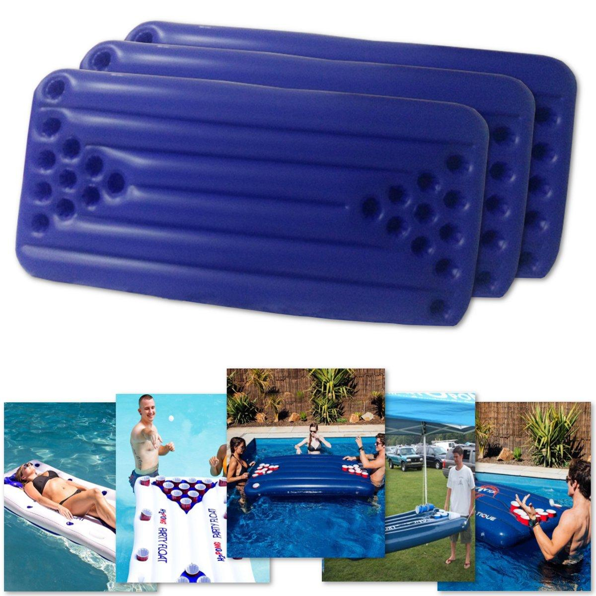 Pvc Gonflable Beer Pong Table 22 Tasses Titulaire Float Mat Piscine Pool  Party Jeu tout Beer Pong Piscine