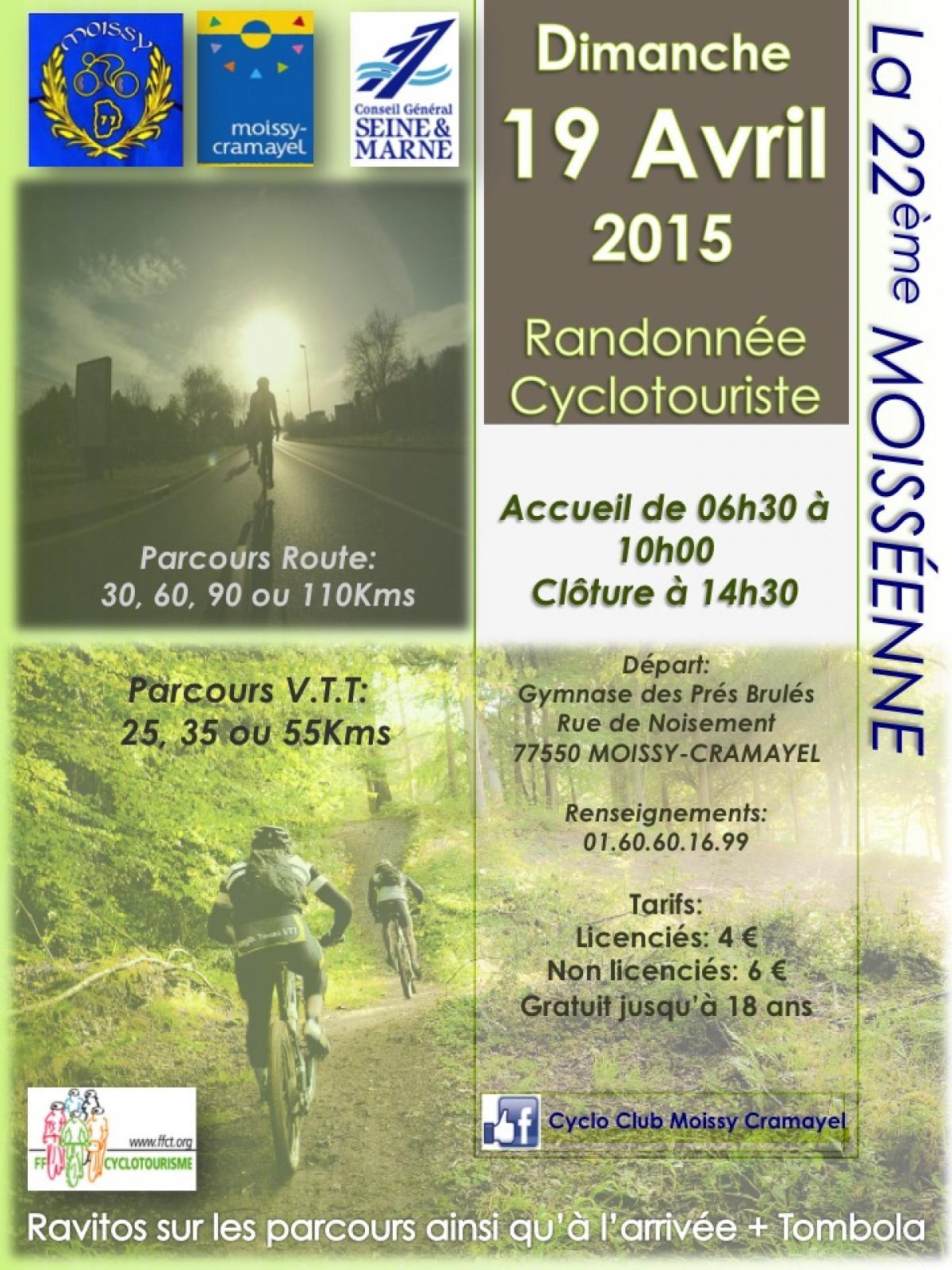 Randonnée La Moisséenne 2015 - L'agenda Sorties Evasion ... intérieur Piscine De Moissy Cramayel