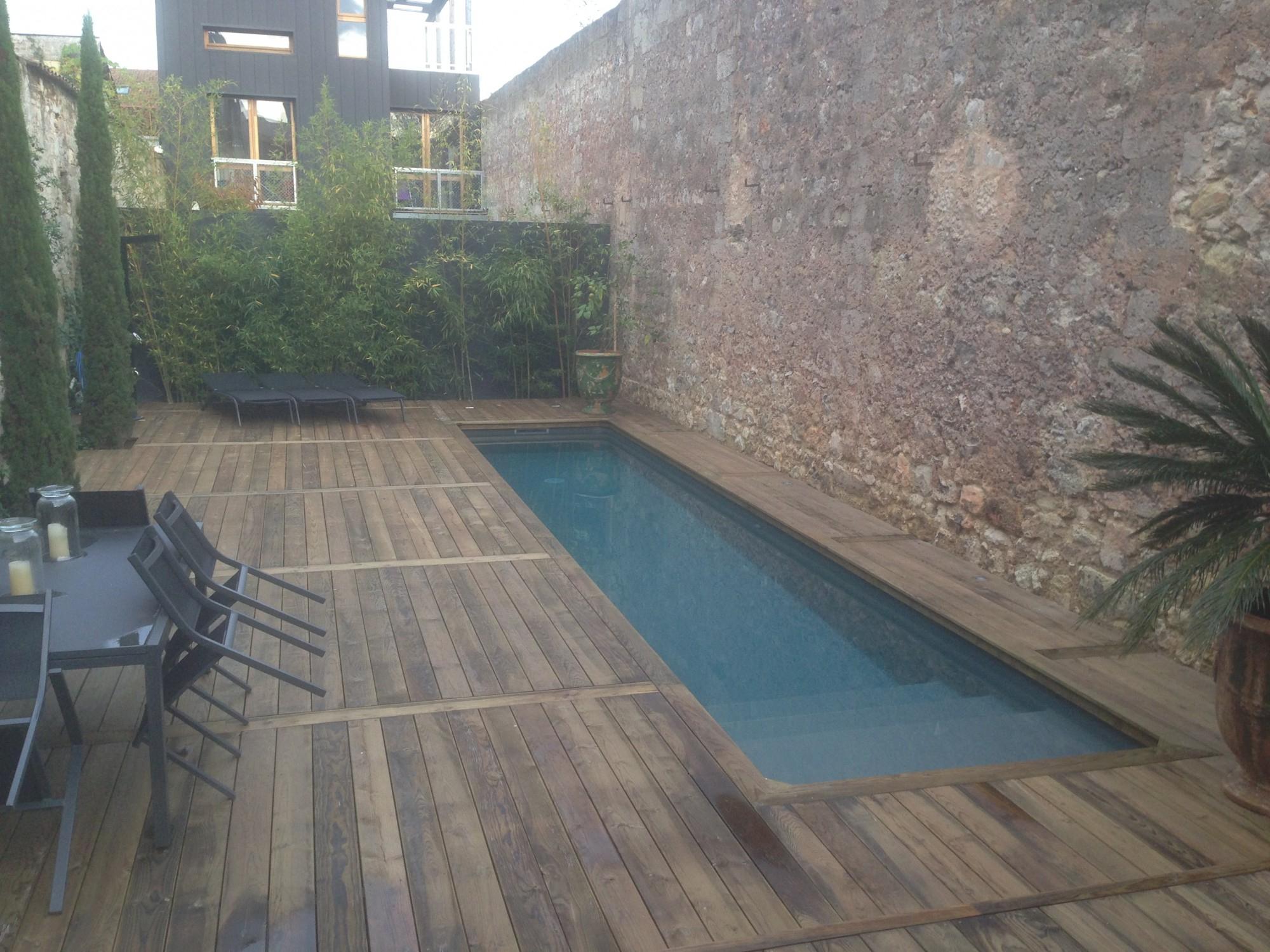 Réaliser Une Piscine Sur Mesure Dans Un Jardin À Accès ... pour Pisciniste Bordeaux