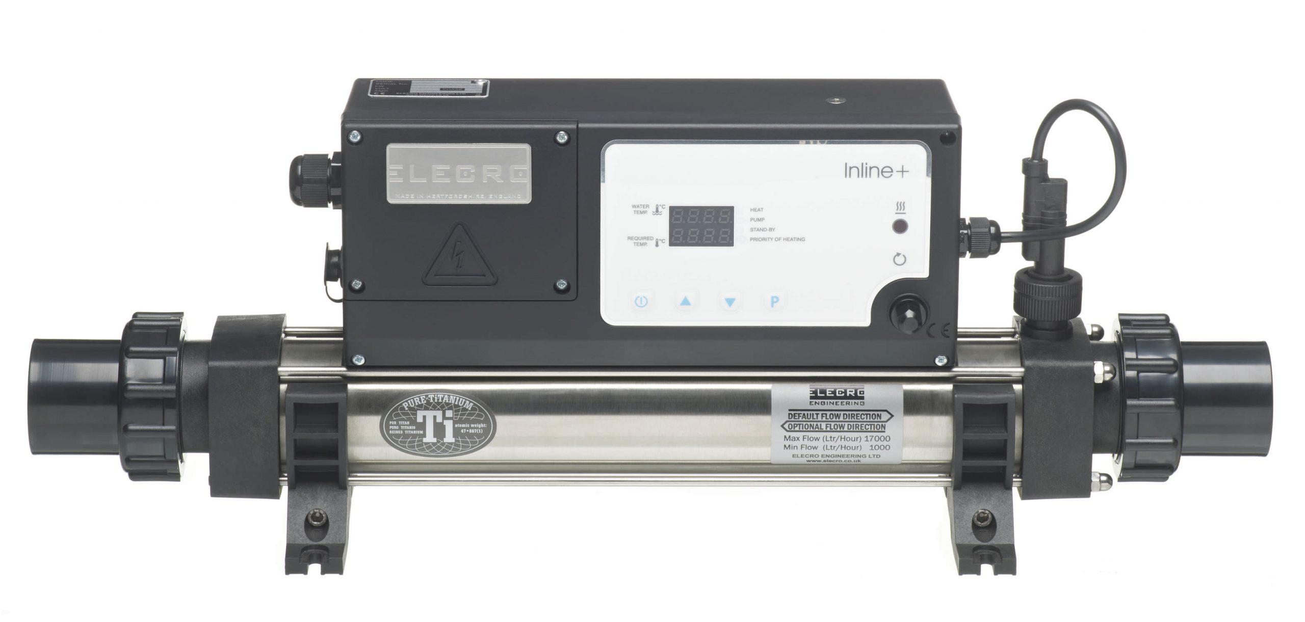 Réchauffeur Pour Piscine Électrique - In-Line+ - Elecro ... à Réchauffeur Piscine