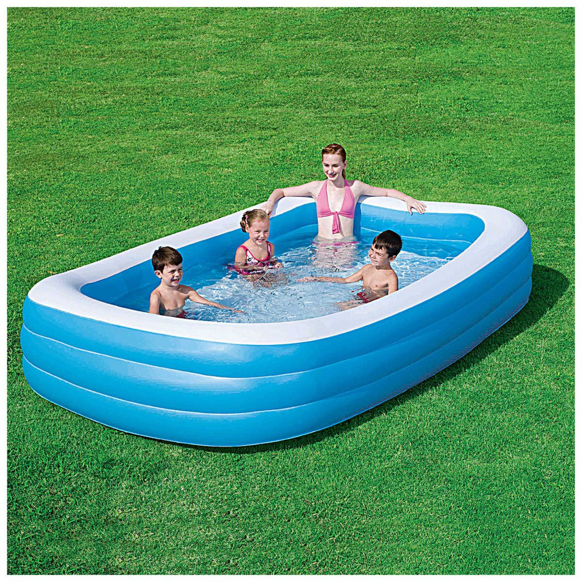 Rectangular Family Pool | Family Pool, Portable Swimming ... destiné Piscine A Balle Toysrus