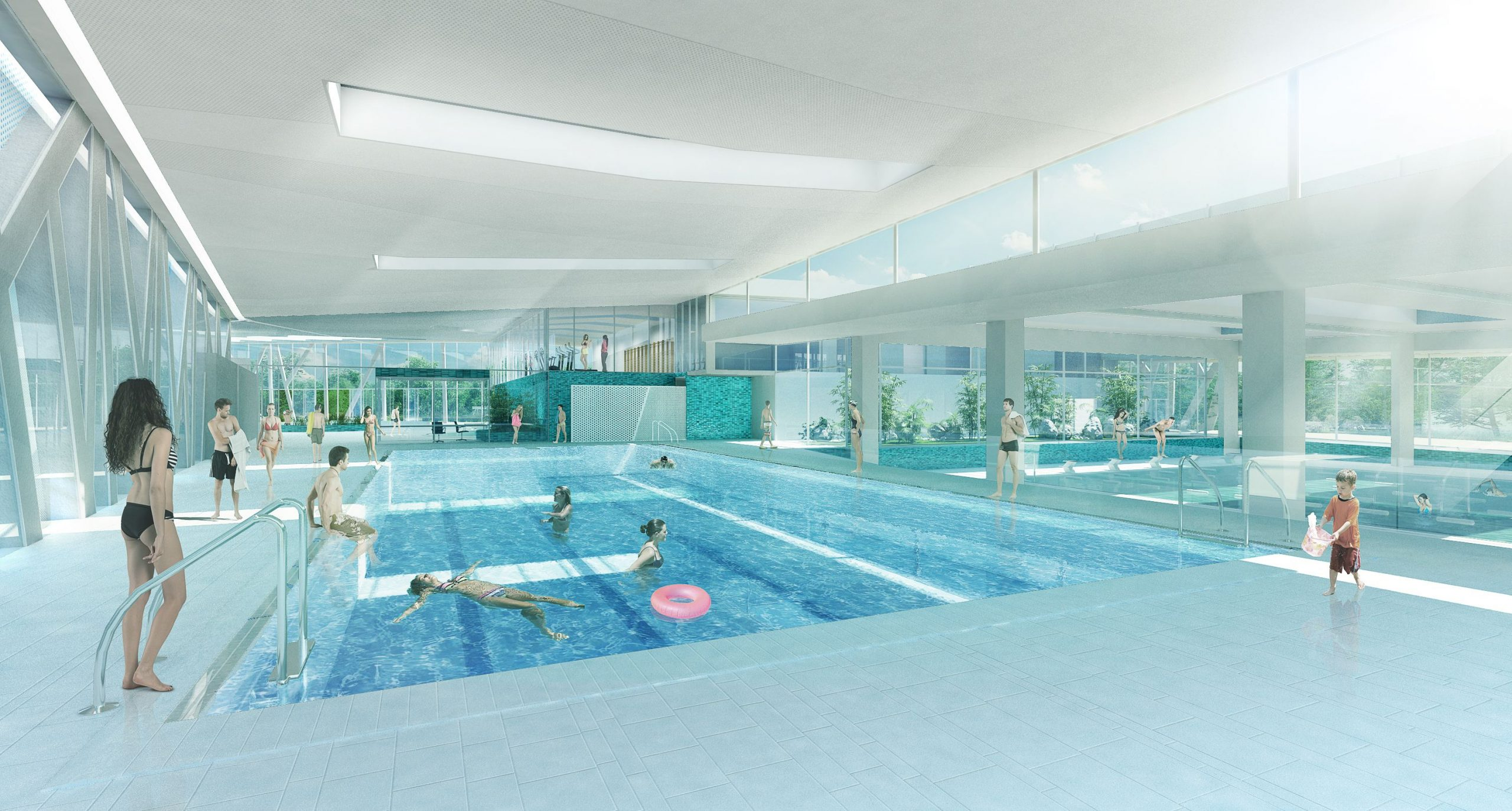 """Réhabilitation Et L'extension Du Centre Aquatique """"aquavert ... intérieur Piscine Lingolsheim"""