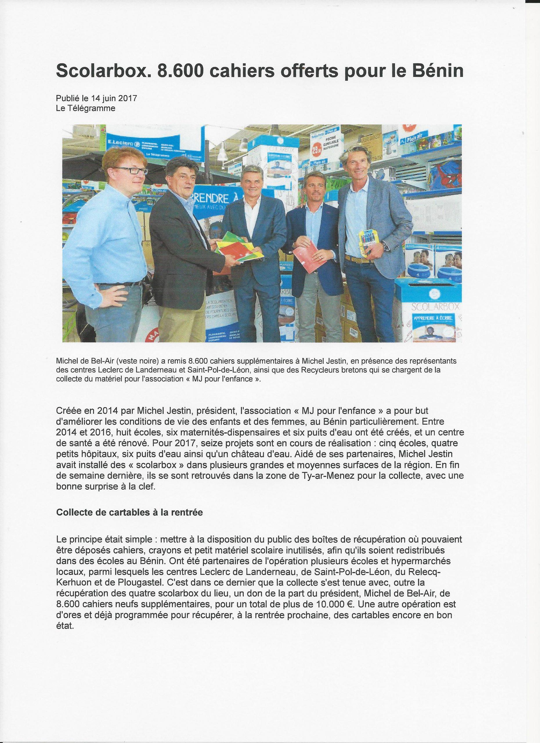 Remise Des Scolarbox + 8 600 Cahiers Par Les Centres E ... encequiconcerne Leclerc Piscine Gonflable
