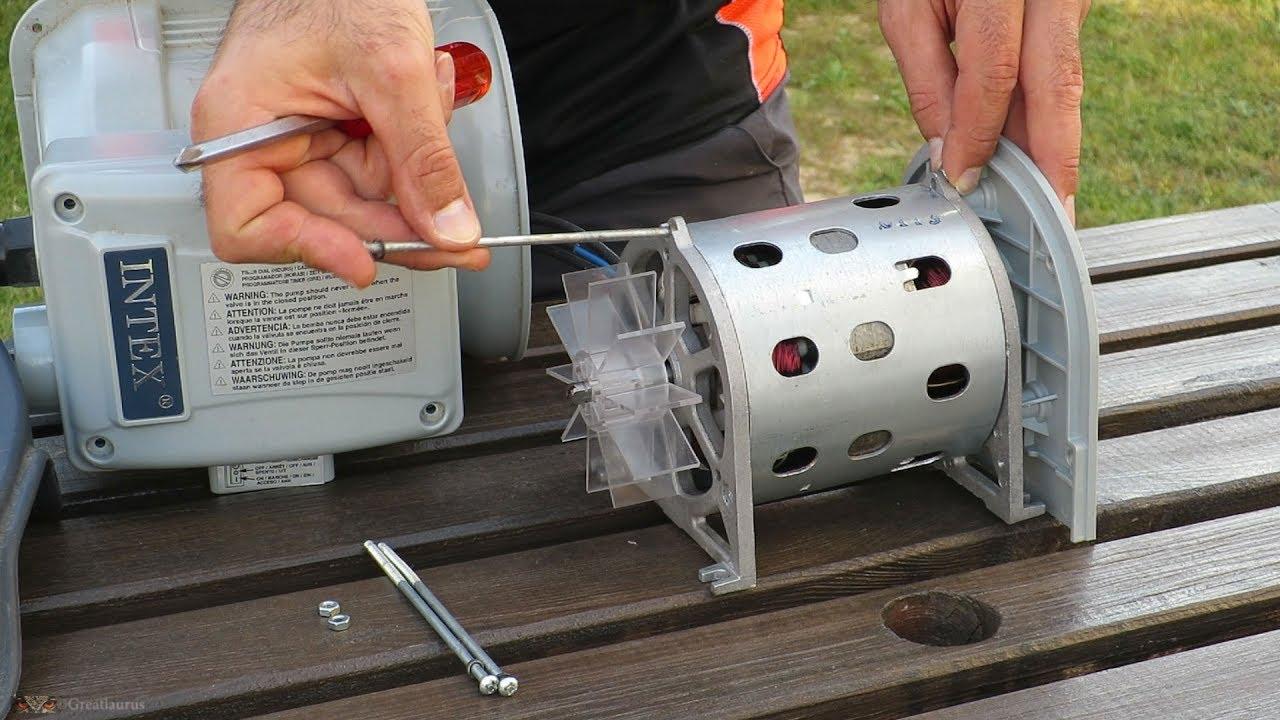 Remontage Moteur Pompe Intex dedans Demontage Pompe Piscine